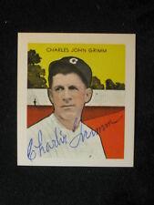 Vintage 1973 TCMA Reprint Charlie Grimm Autographed Signed Card