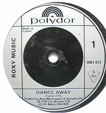 "ROXY MUSIC - Dance Away - Excellent Condition 7"" Single Polydor 2001 872"