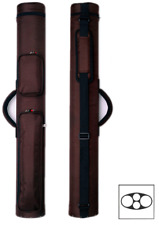 Delta 2x2 Rugged Nylon Macaron 2 Butt 2 Shaft Pool Cue Stick Case - Brown