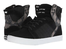 NEW SUPRA SKYTOP BLACK CAMO WHITE SURF BMX SKATEBOARD HIP HOP SPORTS SHOES 11.5