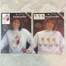 Dimension FashionArt Full Color Iron-On Transfer 1996 Christmas Angel Lot Of 2