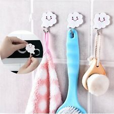 3Pcs Cloud Kitchen Towel Hook Wall Strong Bathroom Pothook Sticky Hanger Hooks