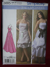 UNCUT Simplicity Pattern 3885 Misses/Miss Special Occasion Dress sz 6-14 (29)