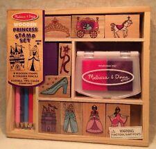 Princess Melissa & Doug Wooden Princess Stamp Set NEW