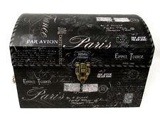 Punch Studio Decorative Chest Trunk Box Vintage Paris Script 61965 Medium