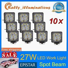 10X 27W 12V 24V LED Work Light SPOT Light Jeep Boat SUV ATV Offroad Truck 4WD