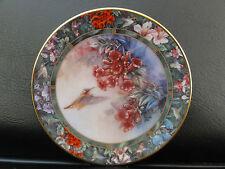 Bradford Exchange Bone China Miniature Plate - Lena Liu - Allen's Hummingbird