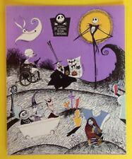 Vintage TIM BURTON Nightmare Before Christmas DISNEY Sticker Sheet~Rare~HTF~.99