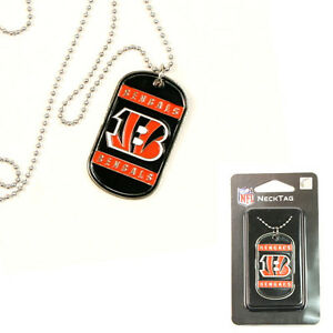 Cincinnati Bengals NFL Dog Tag Style Necklace w/ Chain - FREE U.S. Shipping !