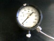 "ASHCROFT 0-200 psi 4"" pressure gauge 1/2""bottom DURATRAN TRANSMITTER DURAGAUGE"