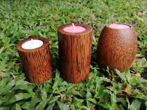 Coconut Natural Eco Friendly Handmade Home Decor SIMPLE Candle Holders FREE SHIP