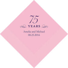 300 Personalized 75th Birthday Cocktail Napkins