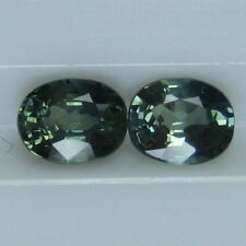 1.03 CTS. GENUINE MINED NATURAL GREEN BLUE SAPPHIRE OVAL CUT 5 X 4 MM. *4785*