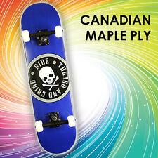 """Element Complete Skateboard: 31"""" Canadian Maple Ply - [ Duke Blue ] Skull"""