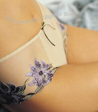 BNWT Charnos Indulgence ID007 Brief in Black and Wisteria