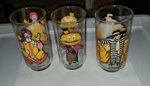 Mcdonald's Collector Series Glasses Set Of 3 Ronald Mayor McCheese  Hamburglar
