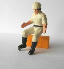 vintage Britains Ltd digger / tractor driver figure in white hard hat