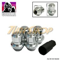 4 LOCK GORILLA LARGE SEAT FACTORY STOCK WHEELS LUG NUTS 14X1.5 ACORN RIMS CHROME