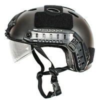 Military Tactical Airsoft Paintball SWAT Protective FAST Helmet Hat W. Goggle