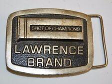 "1970s Vintage Lawrence Brand ""Shot of Champions"" SHOTGUN Shells Belt Buckle GUNS"