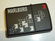 "MARLBORO ZIPPO LIGHTER ""BLACK MATT DESIGN"" - NEVER STRUCK - 2012 - UNUSED"
