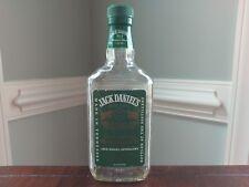 Vintage Jack Daniels No. 7 Green Label Half Pint Empty Clear Glass Liquor Bottle