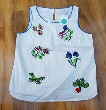 Boden Ladies GORGEOUS Cotton White Top Blouse. UK Size 12 WA556 BRAND NEW SAMPLE