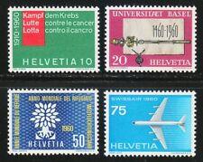 Switzerland 1960 MNH Mi 692-695 Sc 378-381 Cancer,medical,aviation,university