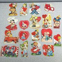 Valentines Day Vintage Cards Die Cut Lot of 18