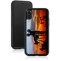For Apple iPhone 11 X XS Max XR Shockproof Hard Case Cover 1560 Oilfield Sunset
