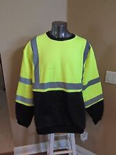 Commander CSSW-301 LS Roadway Construction Night Safety Shirt 4XL front pocket