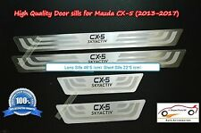 Mazda CX-5 Stainless Steel Thin Door Sills Scuff Plates for All Models 2013-2017