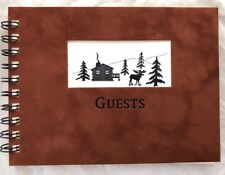 Rustic Colorado Cabin and Moose Foiled Guest Book - Cabins, Weddings, BnB