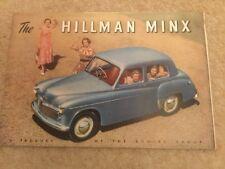 hillman minx brochure c 1952