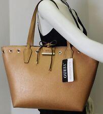 "Guess Reversible 2pc Metallic & Fuchsia Shoulder Bag Handbag Purse Tote ""NWT"""