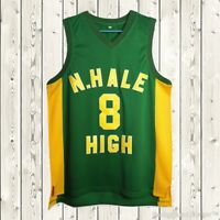 Wiz Khalifa #8 N. Hale High School Stitched Basketball Jersey Wild & Free Green