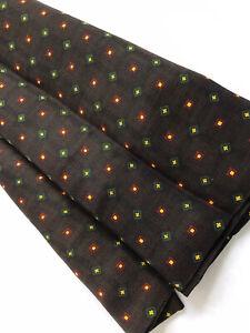 Men's VINTAGE SILK Blend Scarf Retro Patterned Silk Wool Cravat Gents Necktie