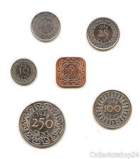 Coinset / Muntset Suriname set 6 coins  Unc