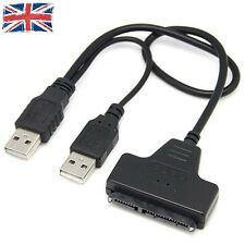 "Usb 2.0 to SATA HDD Converter Adapter Cable 22 Pin 2.5"" STA Drive for laptop UK"