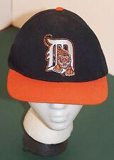 Embroidered DETROIT TIGERS MLB Black Orange Baseball Style Snapback Hat Cap