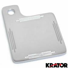 Chrome State Inspection Tag Sticker Renewal Holder Display Plate For Motorcycles