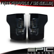 2015-2017 FORD F-150 LED Performance Tail Lights - Black Bezel Smoke Lens