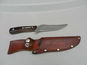 "Vintage Schrade USA 150T Fixed Blade Knife W/ Sheath Deer Slayer  10 3/4""  Used"