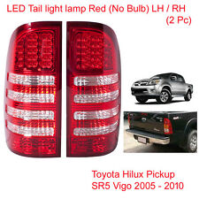 LED Tail Light Lamp Red Clear LH RH 2 Pc For Toyota Hilux Vigo SR5 2005 - 2014