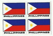 PLANCHE 4 AUTOCOLLANT STICKER LES PHILIPPINES DIM. STICKER 4,3 X 2,9 CMS.