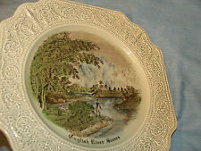 Vintage plate BY CROWN DEVON S. FIELDING ENGLISH RIVER SCENES PLATE