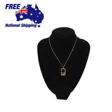 Men Women Silver Pendant Four Leaf Clover Eternal Love Dog Tag Necklace