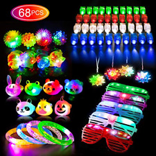 68PCS LED Light Up Toys Party Favors for Kids/Adults Glow in the Dark Party S...
