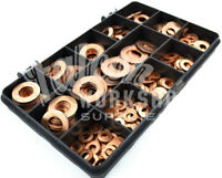 155 PIECE ASSORTED M5 - M12 SOLID COPPER FORM B WASHER SUMP PLUG BOLT KIT