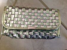 Mally Beauty  Green & Silver Make up Cosmetics Bag / Cell Purse / Clutch (new)